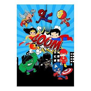Poster Super Heróis Baby 30x43 - 1 Unidade