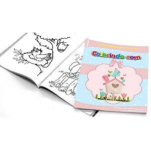 5 Cadernos de Colorir Jardim Encantado