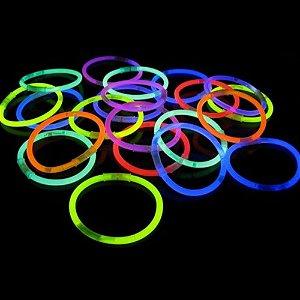 Pulseira Neon para Festa + Conector - 100 unidades