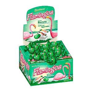 Chiclete com Figurinha Flamingos Sabor Hortelã 200g