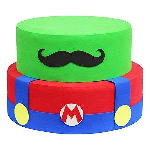 Bolo Fake Decorativo Mario Bros