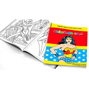 5 Cadernos de Colorir Mulher Maravilha