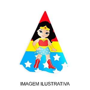5 Chapéus de Festa Mulher Maravilha Baby