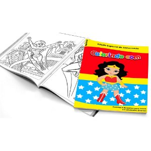 5 Cadernos de Colorir Mulher Maravilha Baby