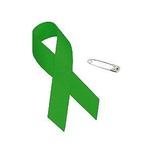 Lacinho de Campanha Janeiro Verde - 10 Unidades