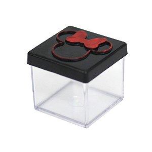 Caixinha Acrílica 4x4 Minnie Preto e Vermelho - 10 Unidades