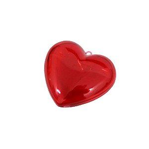 Coração Acrílico Vermelho 6x5 - 8 Unidades