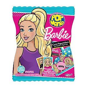 Pirulito Barbie Pop Mania Sabor Framboesa 600g com 50 Unidades