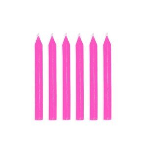 Vela de Aniversário Palito Rosa 20 Unidades