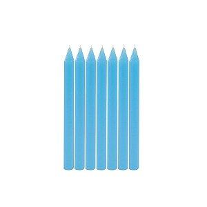 Vela de Aniversário Palito Azul 20 Unidades