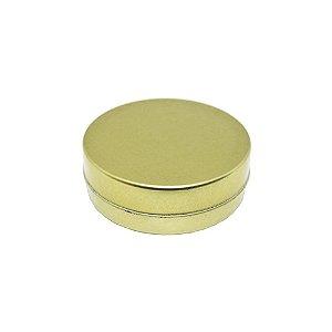 10 Latinhas de Metal Dourada 4x1cm