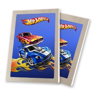 5 Bloquinhos de Papel 25 Folhas Hot Wheels