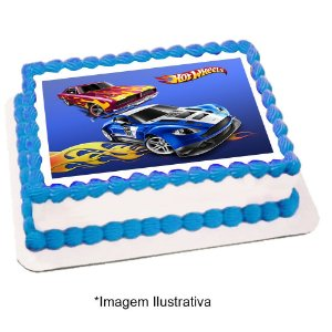 Papel de Arroz Hot Wheels 28x20cm - 1 Unidade