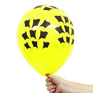 Balão Bexiga Manchas de Girafa Amarelo Nº 11 28cm - 25 Unidades