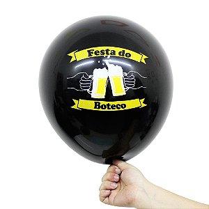 Balão Bexiga Festa Boteco Preto Nº 11 28cm - 25 Unidades