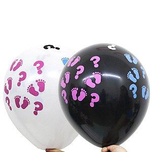 Balão Bexiga Chá Revelação Sortido Nº 11 28cm - 25 Unidades