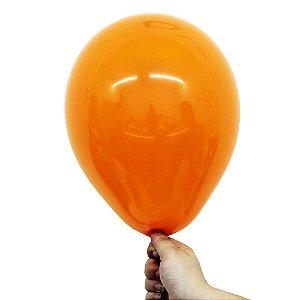 Balão Bexiga Translúcido Cristal Laranja Topazio Nº 9 23cm - 30 Unidades
