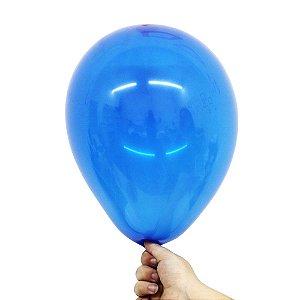 Balão Bexiga Translúcido Cristal Azul Jade Nº 9 23cm - 30 Unidades