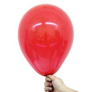 Balão Bexiga Translúcido Cristal Vermelho Rubi Nº 9 23cm - 30 Unidades
