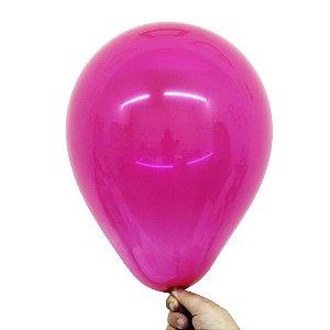 Balão Bexiga Translúcido Cristal Rosa Turmalina Nº 9 23cm - 30 Unidades