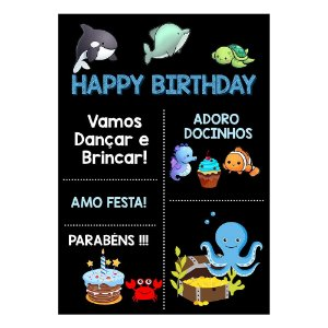Chalk Board Fundo do Mar 22x32cm - 1 Unidade
