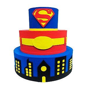 Bolo Fake Decorativo Super Homem