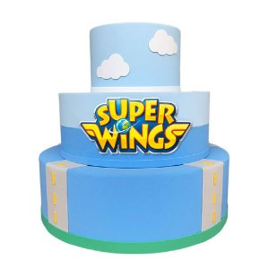 Bolo Fake Decorativo Super Wings