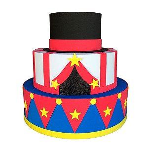 Bolo Fake Decorativo Circo