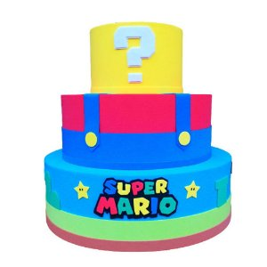 Bolo Fake Decorativo Super Mario Modelo 2