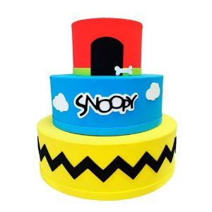Bolo Fake Decorativo Snoopy