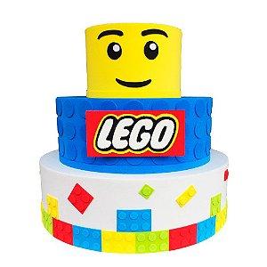 Bolo Fake Decorativo Lego