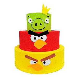 Bolo Fake Decorativo Angry Birds