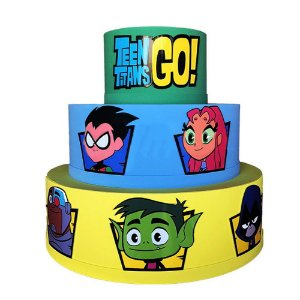 Bolo Fake Decorativo Teen Titans Go