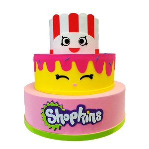 Bolo Fake Decorativo Shopkins