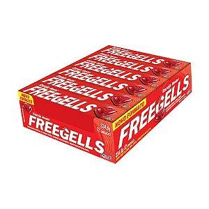 Caixa Bala Freegells Cereja Mentol com 12 Unidades