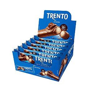 Caixa Chocolate Trento 32g Recheado Sabor Creme com 16 Unidades