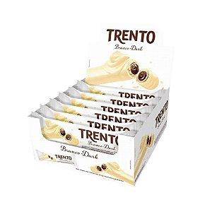 Caixa Chocolate BrancoTrento 32g Recheado Sabor Dark com 16 Unidades