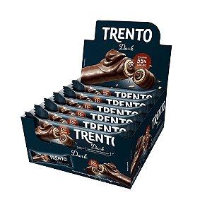 Caixa Chocolate Trento 32g Recheado Sabor Dark com 16 Unidades