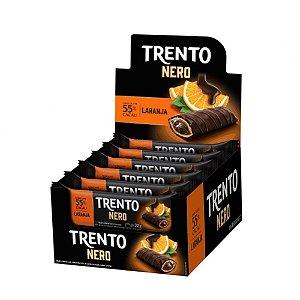 Caixa Chocolate Trento Nero 22g com Recheio de Laranja com 16 Unidades