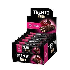 Caixa Chocolate Trento Nero 22g com Recheio de Cereja com 16 Unidades