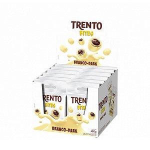 Caixa Chocolate Branco Trento Bites Recheio Dark 40g com 12 Unidades