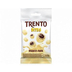 Chocolate Branco Trento Bites Recheio Dark 40g - 1 Unidade