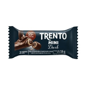 Chocolate Trento Mini Recheio Dark com 2 Unidades
