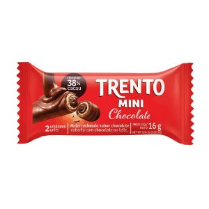 Chocolate Trento Mini Recheio Chocolate com 2 Unidades