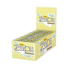 Caixa Chocolate Branco Baton Garoto 16g com 30 Unidades