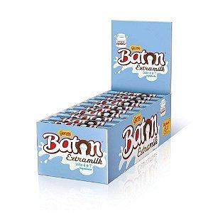 Caixa Chocolate Baton Garoto Recheio Extra Milk 16g com 30 Unidades