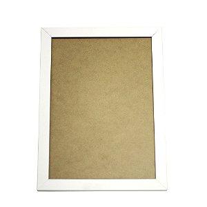 Quadro Moldura e Vidro Branco para Poster 30x21 - 1 Unidade