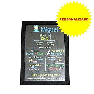 Poster Personalizado 30x21 com Moldura Preta e Vidro
