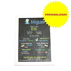 Poster Personalizado 30x21 com Moldura Branca e Vidro