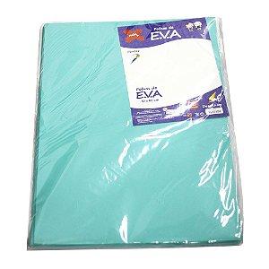 Folha de EVA 40x60cm Liso Azul Luxo - 10 unidades